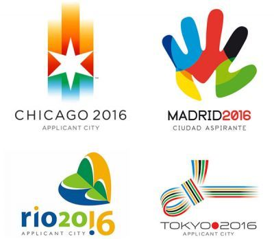 Olympic logos from the 2016 applicant cities.
